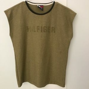 Tommy Hilfiger Army Green Sleeveless Top